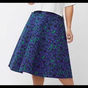 Lane Bryant Blue Flower Skirt Modernist Collection